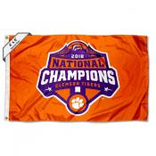Clemson Tigers National Champions Large 4x6 Flag