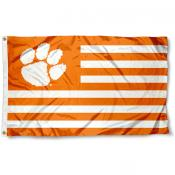 Clemson Tigers Striped Flag