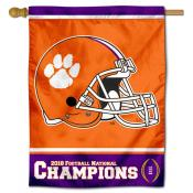 Clemson University 2018 National Champs Banner Flag
