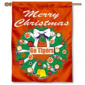 Clemson University Holiday Flag