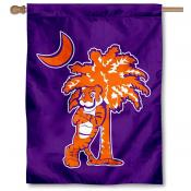 Clemson University Palm Logo Banner Flag
