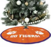 Clemson University Tigers Christmas Tree Skirt