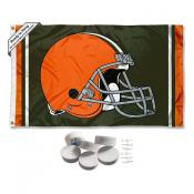 Cleveland Browns Banner Flag with Tack Wall Pads