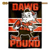 Cleveland Browns Brownie Dawg Pound Double Sided House Banner