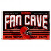 Cleveland Browns Fan Cave Flag Large Banner