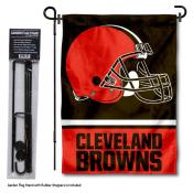 Cleveland Browns Garden Flag and Stand