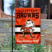 Cleveland Browns Throwback Logo Double Sided Garden Flag Flag