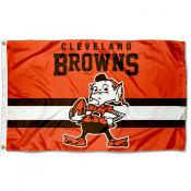 Cleveland Browns Throwback Retro Vintage Logo Flag