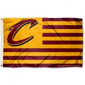 Cleveland Cavaliers Americana Stripes Nation Flag