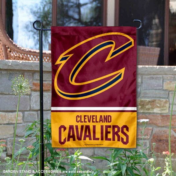 Cleveland Cavaliers Garden Flag is 12.5x18 inches in size, is made of 2-ply polyester, and has two sided screen printed logos and lettering. Available with Express Next Day Shipping, our Cleveland Cavaliers Garden Flag is NBA Genuine Merchandise and is double sided.