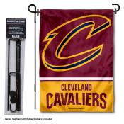 Cleveland Cavaliers Garden Flag and Flagpole Stand