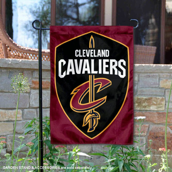 Cleveland Cavaliers New Shield Logo Double Sided Garden Flag is 12.5x18 inches in size, is made of 2-ply polyester, and has two sided screen printed logos and lettering. Available with Express Next Day Shipping, our Cleveland Cavaliers New Shield Logo Double Sided Garden Flag is NBA Genuine Merchandise and is double sided.