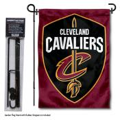 Cleveland Cavaliers Shield Garden Flag and Flagpole Stand