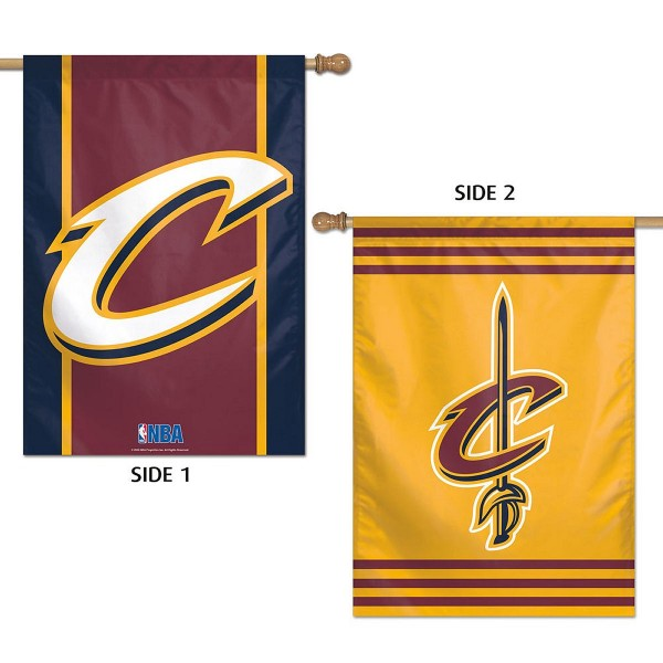 Cleveland Cavaliers Two Sided House Flag is imprinted with Team Logos for the Cleveland Cavaliers and is made of a sturdy 100% polyester. Our Banner Flags for Cleveland Cavaliers measure 28x40 inches and hang vertically for a top pole sleeve.
