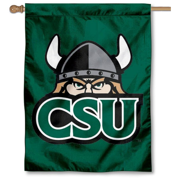 Cleveland State University Banner Flag is a vertical house flag which measures 30x40 inches, is made of 2 ply 100% polyester, offers dye sublimated NCAA team insignias, and has a top pole sleeve to hang vertically. Our Cleveland State University Banner Flag is officially licensed by the selected university and the NCAA.