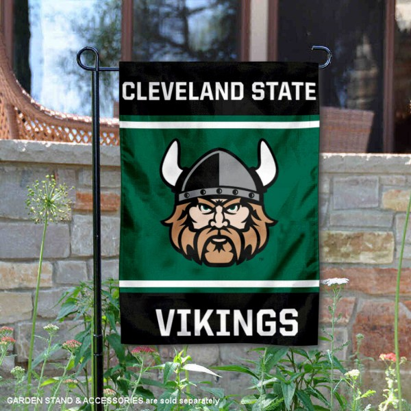 Cleveland State Vikings Garden Flag is 13x18 inches in size, is made of 2-layer polyester, screen printed logos and lettering. Available with Same Day Express Shipping, Our Cleveland State Vikings Garden Flag is officially licensed and approved by the NCAA.