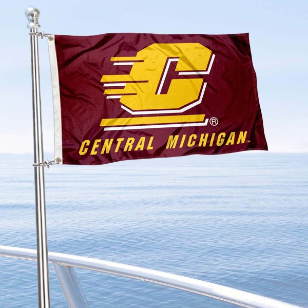 CMU Chippewas Boat and Mini Flag is 12x18 inches, polyester, offers quadruple stitched flyends for durability, has two metal grommets, and is double sided. Our mini flags for Central Michigan University are licensed by the university and NCAA and can be used as a boat flag, motorcycle flag, golf cart flag, or ATV flag.
