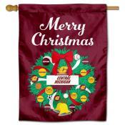 CMU Chippewas Happy Holidays Banner Flag