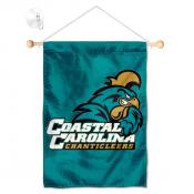 Coastal Carolina Chanticleers Banner with Suction Cup