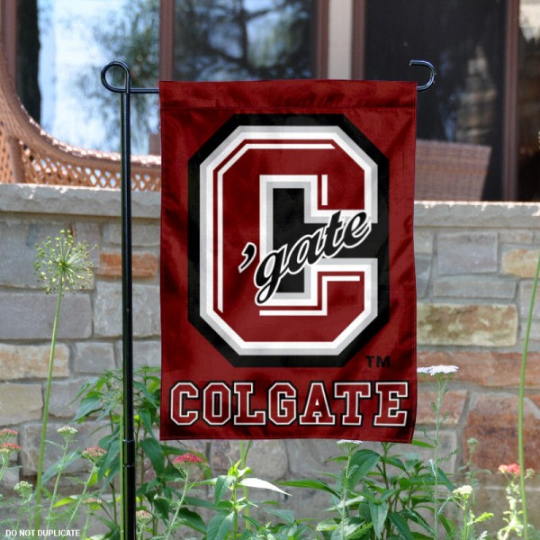 Colgate Raiders Garden Flag is 13x18 inches in size, is made of 2-layer polyester, screen printed Colgate Raiders athletic logos and lettering. Available with Same Day Express Shipping, Our Colgate Raiders Garden Flag is officially licensed and approved by Colgate Raiders and the NCAA.