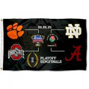College Football Playoff 2020 Bracket Flag