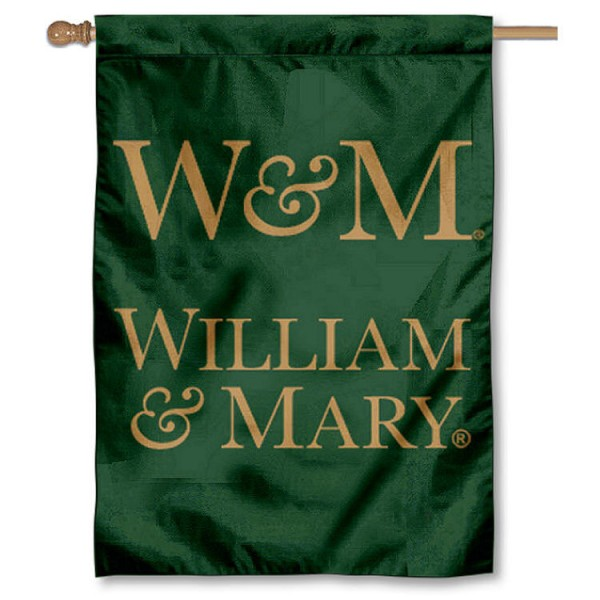 College of William and Mary Double Sided Banner is a vertical house flag which measures 28x40 inches, is made of 2 ply 100% nylon, offers screen printed NCAA team insignias, and has a top pole sleeve to hang vertically. Our College of William and Mary Double Sided Banner is officially licensed by the selected university and the NCAA.