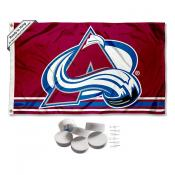 Colorado Avalanche Banner Flag with Tack Wall Pads