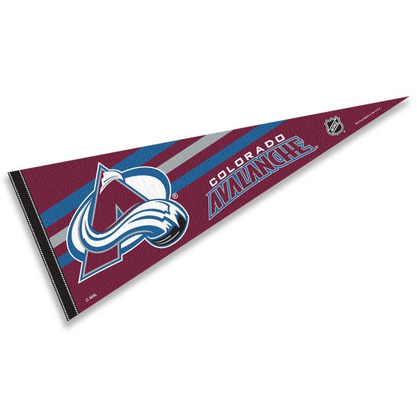 Colorado Avalanche NHL Pennant is our full size 12x30 inch pennant which is made of felt, is single sided screen printed, and is perfect for decorating at home or office. Display your NHL hockey allegiance with this NHL Genuine Merchandise item.