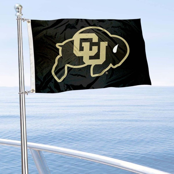 Colorado Buffaloes Boat and Mini Flag is 12x18 inches, polyester, offers quadruple stitched flyends for durability, has two metal grommets, and is double sided. Our mini flags for Colorado Buffaloes are licensed by the university and NCAA and can be used as a boat flag, motorcycle flag, golf cart flag, or ATV flag.