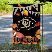 Colorado Buffaloes Fall Football Autumn Leaves Decorative Garden Flag