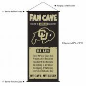 Colorado Buffaloes Fan Cave Man Cave Banner Scroll