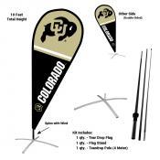 Colorado Buffaloes Feather Flag Kit