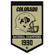 Colorado Buffaloes Football National Champions Banner