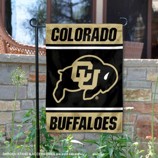 Colorado Buffaloes Garden Flag is 13x18 inches in size, is made of 2-layer polyester, screen printed logos and lettering. Available with Same Day Express Shipping, Our Colorado Buffaloes Garden Flag is officially licensed and approved by the NCAA.