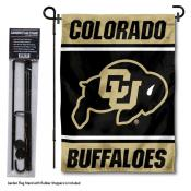 Colorado Buffaloes Garden Flag and Pole Stand Holder