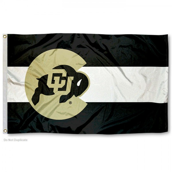 Colorado Buffaloes State of Colorado Logo Flag measures 3x5 feet, is made of 100% polyester, offers quadruple stitched flyends, has two metal grommets, and offers screen printed NCAA team logos and insignias. Our Colorado Buffaloes State of Colorado Logo Flag is officially licensed by the selected university and NCAA.