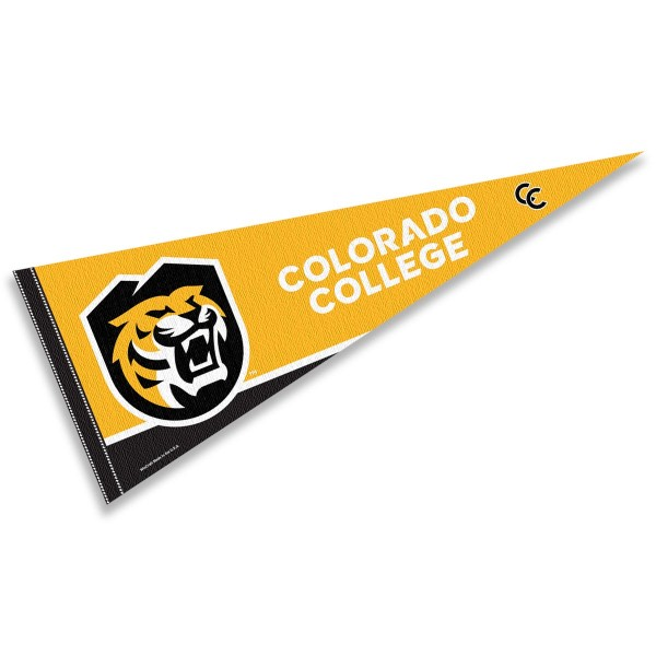 Colorado College Pennant consists of our full size sports pennant which measures 12x30 inches, is constructed of felt, is single sided imprinted, and offers a pennant sleeve for insertion of a pennant stick, if desired. This Colorado College Felt Pennant is officially licensed by the selected university and the NCAA.