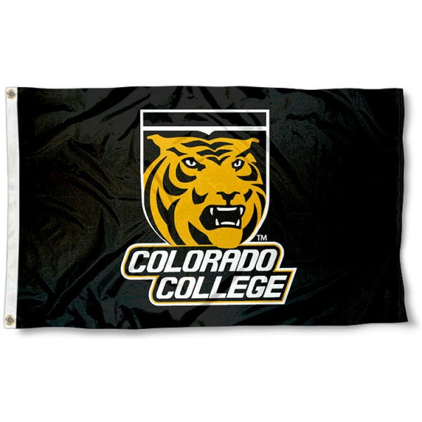 Colorado College Tigers Flag is made of Poly, Screen Printed logos of Colorado College Tigers, 3'x5' in Size, and Viewable from Both Sides. These Flags for Colorado College are a NCAA Licensed Product.