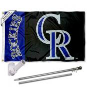 Colorado Rockies Flag Pole and Bracket Kit