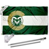 Colorado State Rams CO State Flag Pole and Bracket Kit