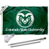 Colorado State Rams Flag Pole and Bracket Kit