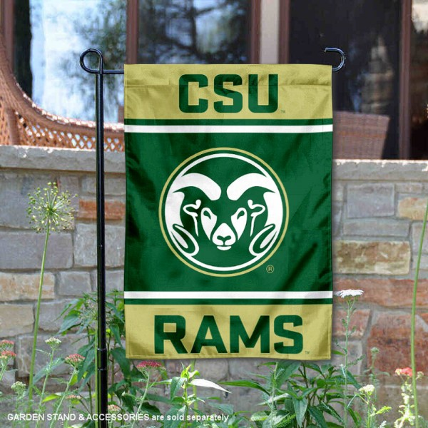 Colorado State Rams Garden Flag is 13x18 inches in size, is made of 2-layer polyester, screen printed logos and lettering. Available with Same Day Express Shipping, Our Colorado State Rams Garden Flag is officially licensed and approved by the NCAA.