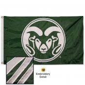 Colorado State Rams Nylon Embroidered Flag