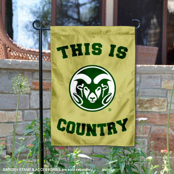 Colorado State University Country Garden Flag is 13x18 inches in size, is made of 2-layer polyester, screen printed university athletic logos and lettering, and is readable and viewable correctly on both sides. Available same day shipping, our Colorado State University Country Garden Flag is officially licensed and approved by the university and the NCAA.