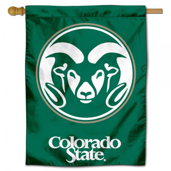 "Colorado State University Decorative Flag is constructed of polyester material, is a vertical house flag, measures 30""x40"", offers screen printed athletic insignias, and has a top pole sleeve to hang vertically. Our Colorado State University Decorative Flag is Officially Licensed by Colorado State University and NCAA."