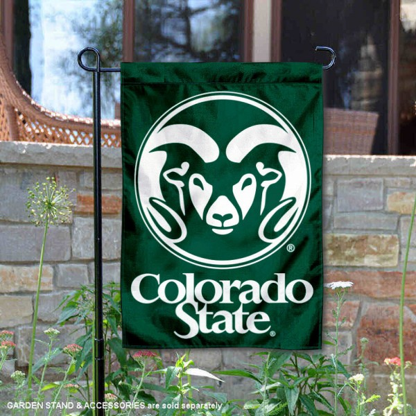 Colorado State University Garden Flag is 13x18 inches in size, is made of 2-layer polyester, screen printed Colorado State University athletic logos and lettering. Available with Same Day Express Shipping, Our Colorado State University Garden Flag is officially licensed and approved by Colorado State University and the NCAA.
