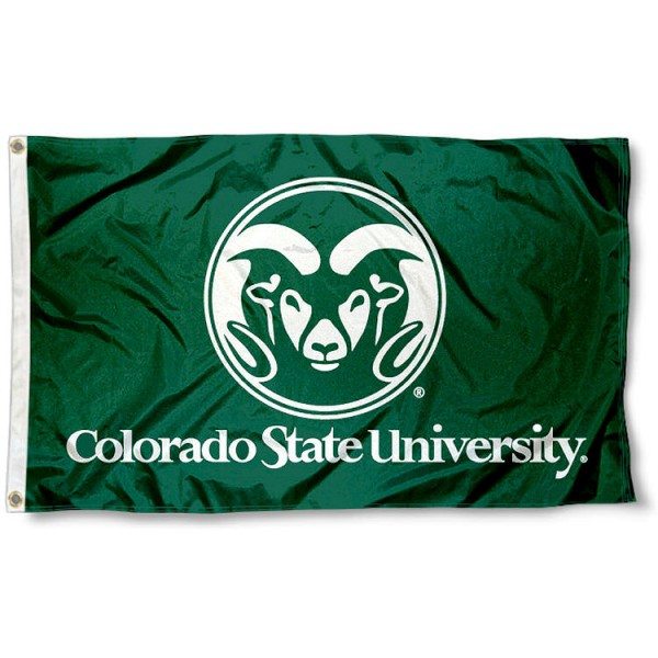 Colorado State University Large Flag measures 3'x5', is made of 100% poly, has quadruple stitched sewing, two metal grommets, and has double sided Team University logos. Our Colorado State University Large Flag is officially licensed by the selected university and the NCAA.