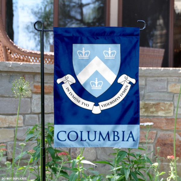 Columbia Lions Shield Garden Flag is 13x18 inches in size, is made of 2-layer polyester, screen printed logos and lettering. Available with Same Day Express Shipping, Our Columbia Lions Shield Garden Flag is officially licensed and approved by the College and the NCAA.