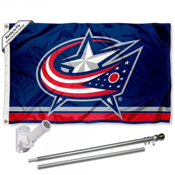 Columbus Blue Jackets Flag Pole and Bracket Kit