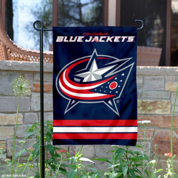Columbus Blue Jackets Garden Flag is 12.5x18 inches in size, is made of 2-ply polyester, and has two sided screen printed logos and lettering. Available with Express Next Day Ship, our Columbus Blue Jackets Garden Flag is NHL Officially Licensed and is double sided.